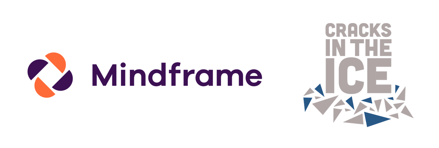 Cracks in the Ice and Mindframe brand logos